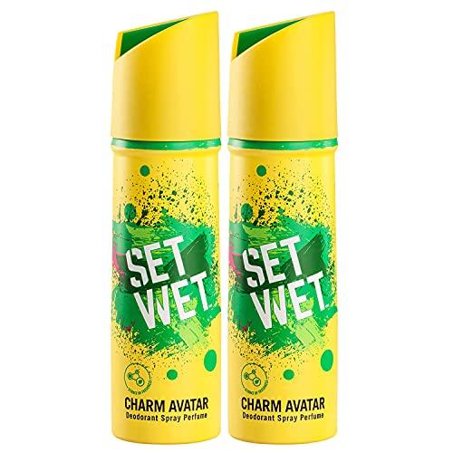 Set Wet Charm Avatar Deodorant & Body Spray Perfume For Men, 150 ml (Pack of 2)