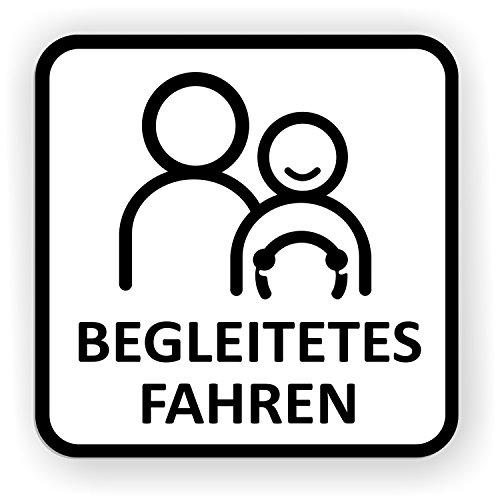 Auto-Magnetschild Begleitetes Fahren | Schild magnetisch | für Deutschland (BF-17) und Österreich (L-17) | Verschiedene Größen lieferbar (15 x 15 cm)