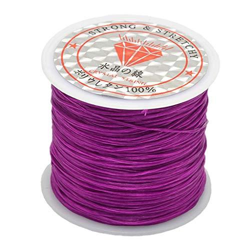 chiwanji Rollo de Cordón de Poliéster Elástico Elástico de 0,5 Mm para...