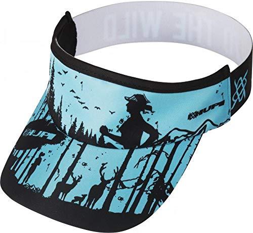 Viseira para Corrida Hupi Into The Wild, Cor: Azul/preto, Tamanho: Único