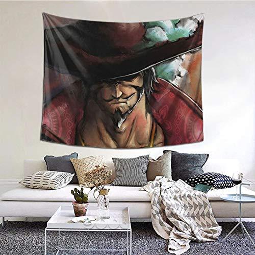 LXXHWORLD - Tapiz de pared para colgar en la pared, diseño de Drácula Mihawk, para decoración de techo, hogar, dormitorio, sala de estar, dormitorio de 150 x 150 cm