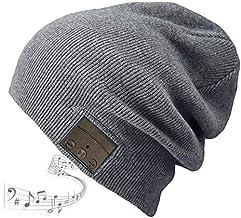 HEYMIX Bluetooth Hat Bluetooth Beanie Wireless 5.0 Headphones Headset Women Men Winter Music Hat Knit Running Cap Outdoor ...