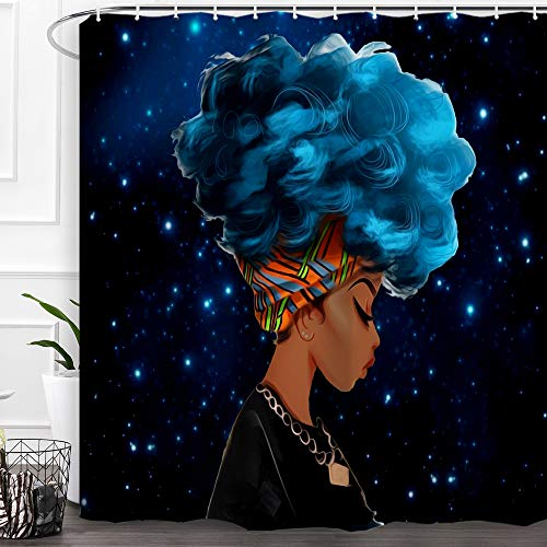 Top black girl shower curtain bathroom set with rugs for 2020