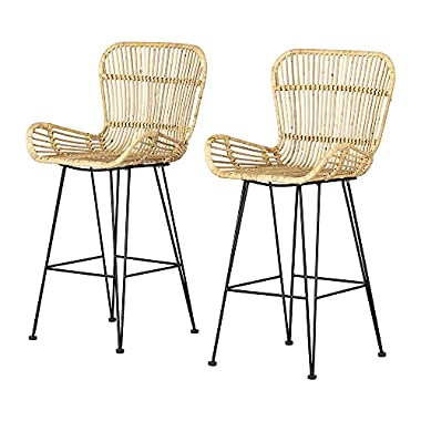 South Shore Chair, Standard, Rattan and Black