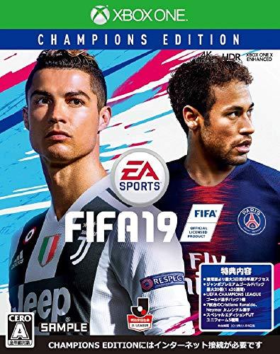 FIFA 19 Champions Edition 【限定版同梱物】•ジャンボプレミアムゴールドパック最大20個 •UEFA CHAMPIONS LEAGUE GOLD PLAYER PICK •7試合FUTレンタルアイテムのNeymar •7試合FUTレンタルアイテムのCristiano Ronaldo •FIFAサウンドトラックアーティストがデザインしたスペシャルエディションのFUTユニフォーム 同梱 & 【Amazon.co.jp限定】チケットホルダー 付 - XboxONE
