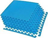 IncStores Exercise Tiles 2ft x 2ft Portable Interlocking Foam Tile Mats (1/2' - 6 Tile...