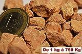 750 Kg de gravier rose corail concassé pour Jardin, allée et décoration à l'intérieur et à l'extérieur calcaire 6-10 mm