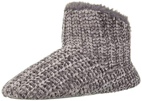 Dearfoams Women's Chenille Bootie Slipper, Excalibur, Large