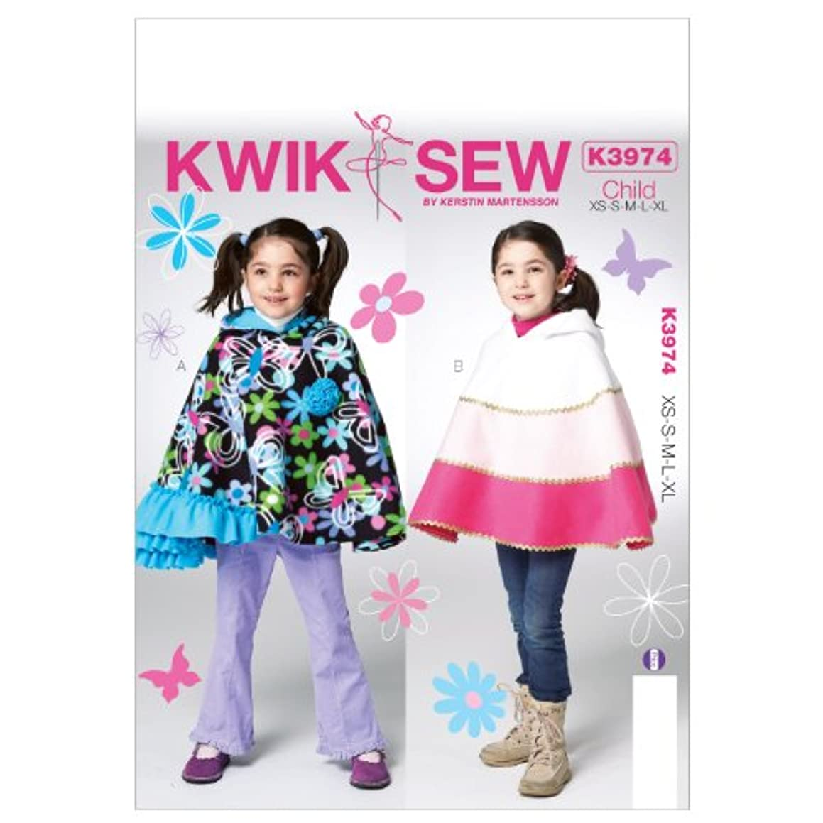 KWIK-SEW PATTERNS K3974 Children/Girls Capes Sewing Template