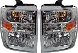 Evan-Fischer Headlight Set Compatible with 2008-2017 Ford E-450 Super Duty E-350 Left Driver and Right Passenger Side Halogen With bulb(s) CAPA Certified