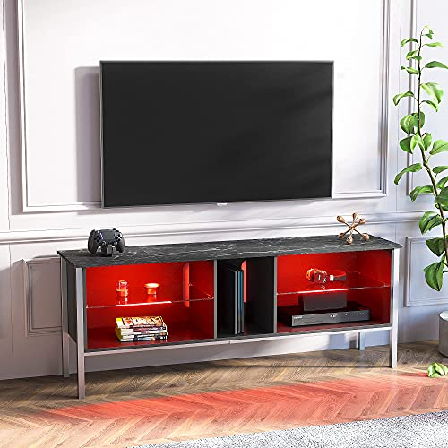 Bestier Modern Gaming TV Stand Console up to 75 Tv,20 Color LED...