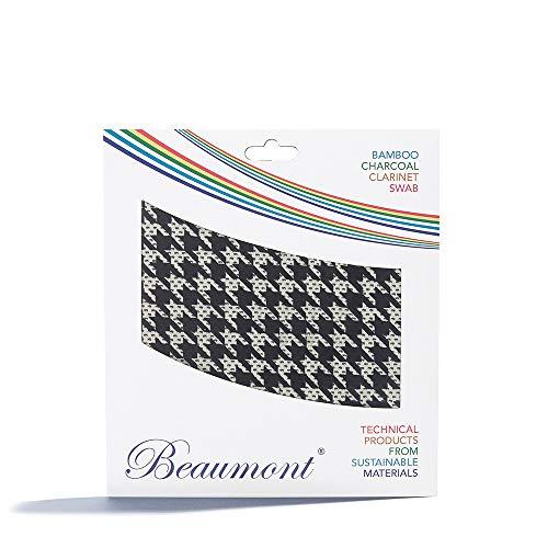 "Beaumont ""Hounds Tooth"" Paño con Hisopo de Cuerda para Limpieza Interior de Clarinete Si Bemol Buffet, Yamaha, Selmer, Leblanc (BCPT-HT)"