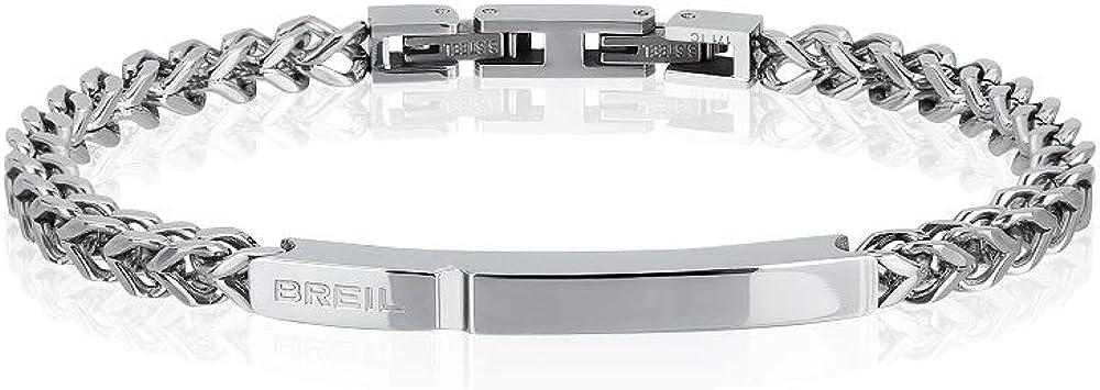 Breil,bracciale da uomo in acciaio,collezione groovy TJ2138