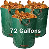 3-Pack 72 Gallons Garden Waste Bags ,Reusable/Heavy Duty/Collapsible Leaf Bags,Lawn Pool Garden Leaf Yard Waste Bags with 4 Handles