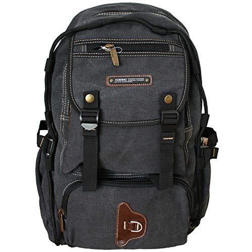 AOKING Rucksack Reisen Rucksack Männer Herren and Damen Schulrucksack Taschen Backpack braun