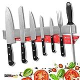 PRADUMAN® Messer MAGNETLEISTE Edelstahl 40cm - EXTRA STARK - Messerhalter MAGNETISCH perfekt zur...