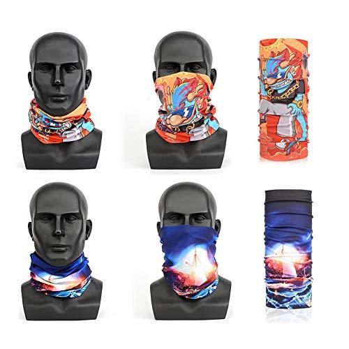ZXL 3D-hoofdband, seamless tube, hoofdband, uv-bestendigheid buiten, multifunctioneel, uniseks, voor volwassenen en kinderen, 2 stuks