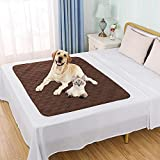 Waterproof Dog Bed Cover Pet Blanket for Couch Sofa Anti-Slip Furniture Protrctor(4050', Chocolate)