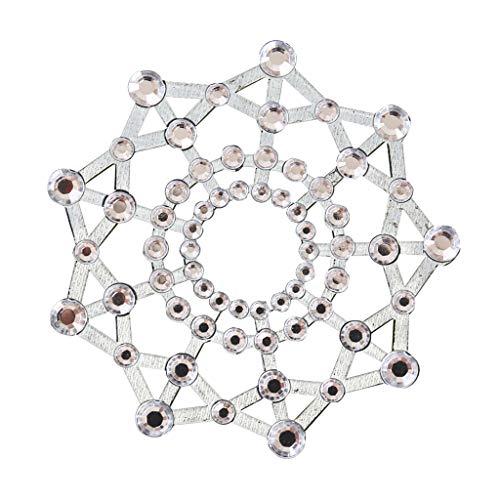 F Fityle Adesivo per Capezzoli Al Seno Divertente Adesivo con Strass di Cristallo Forte Flessibile Divertente - Bianco, come descritto