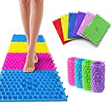 Foot Massage Pad Toe Pressure Blood Circulation Plate Mat Acupressure mats for feet (4 Packs) (Purple)