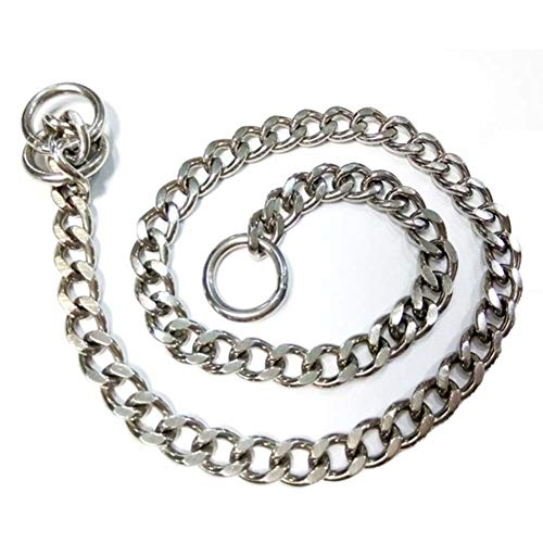LIPETLI Hundehalsband Hochwertiges Korrosionsbeständiges Edelstahl Metallhalsband für Große Mittlere und Kleine Hunde,S