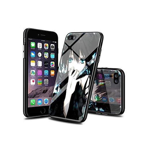 WuSzlON Compatible con iPhone 6S Plus Funda, iPhone 6 Plus Funda, Cristal Templado Delgado, Resistente a los arañazos, Suave Borde de TPU anticaídas para iPhone 6S Plus/iPhone 6 Plus A004