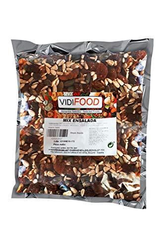 Mix de Frutas y Nueces para ensaladas - 1kg - Mezcla de Semillas de Girasol, Semillas de Calabaza, Pasas, Nueces, Albaricoques deshidratados y Arándanos secos - Mezcla Ensaladas, Aperitivos y Recetas
