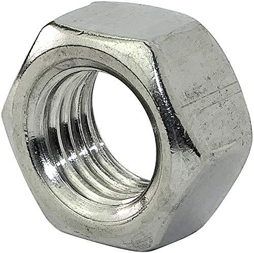 AERZETIX - Juego de 10 - Tuercas hexagonales 6 lados - Piezas Metálicas/Separado/Apriete/Ensamblaje - Acero inoxidable A2 - Rosca M16 Métrica Hembra - Bricolaje - DIN 934 - Color plata - C45778
