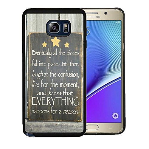 Funda para Samsung Galaxy Note 5 (Poliuretano termoplástico), diseño de Versos de la Biblia y Texto en inglés Know That Everything Happens for a Reason