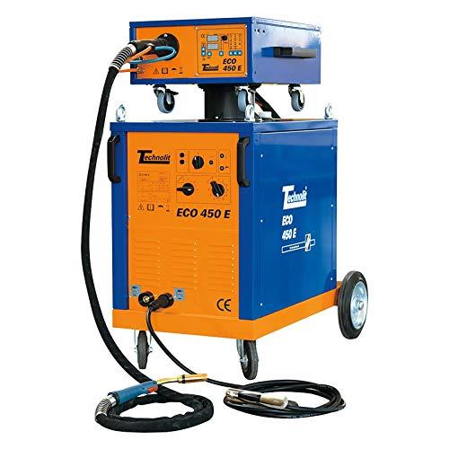 TECHNOLIT ECO 450 E MIG MAG Schweißanlage Schutzgas-Schweißgerät Regelbereich 40-450 A - 4-Rollen-Drahtvorschub - inkl. Schlauchpaket uvm, Größe:4 Meter Set