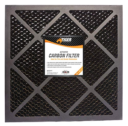 Affordable Tiger Tough HEPA 500 Activated Carbon Filter for Air Scrubbers - Ideal for Fire Restorati...