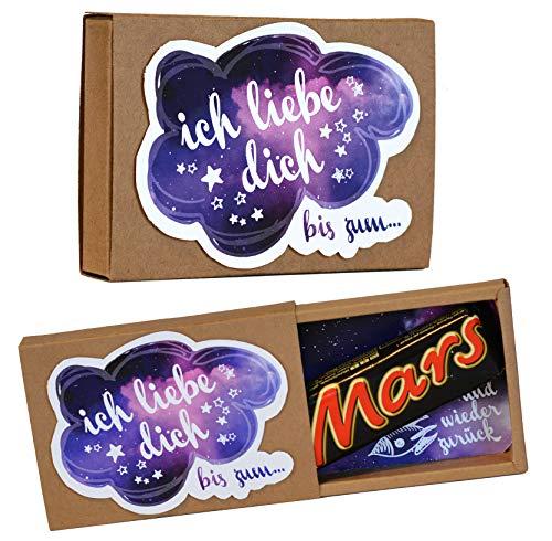 Rosanna Party Design Romantisches Geschenk zum Valentinstag bis zum Mars und zurück ღ originelle Geschenkidee * ich Liebe Dich * witzige Liebes Geschenke für Verliebte