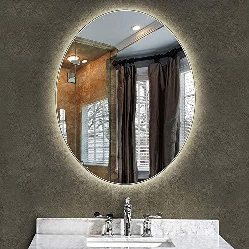 Oanzryybz Hohe Qualität Badezimmer-Spiegel Led Beleuchtet beleuchteter Make-up Vanity Kosmetik Wandaufbauleuchte Startseite Schlafzimmer Flur Anti-Fog Vertikal (Color : Neutral Light, Size : 60×80CM)
