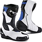 STIVALI MOTO TCX 7665 SP-MASTER // WATERPROOF // GORETEX (42 EUR - 8,5 US, WHITE/BLACK/BLUE)