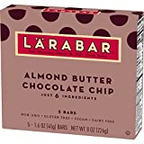 Larabar Fruit and Nut Bar, Almond Butter Chocolate Chip, 5 Count, (Pack of 8)