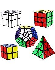 Vdealen Magische Kubus Set Bevat 2x2 3x3 Megaminx 3X3 Piramide 3X3 Zilver Spiegel Kubus Sticker Magische Kubus Puzzelset