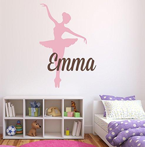 Custom Ballet Name Wall Decal - Room Decor Kids Girls Financial sales sale Max 81% OFF Nursery