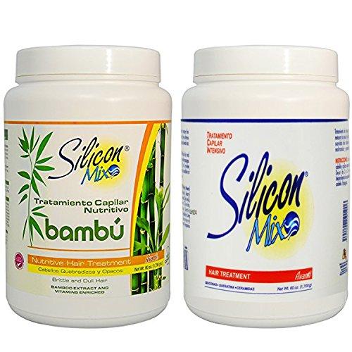 Combo silicona mezcla 1774.4ml + Silicon combinación bambú 1774.4ml–Tratamiento para cabello