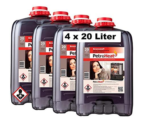 4 x Petroleum 20 L Liter Petroheat für...