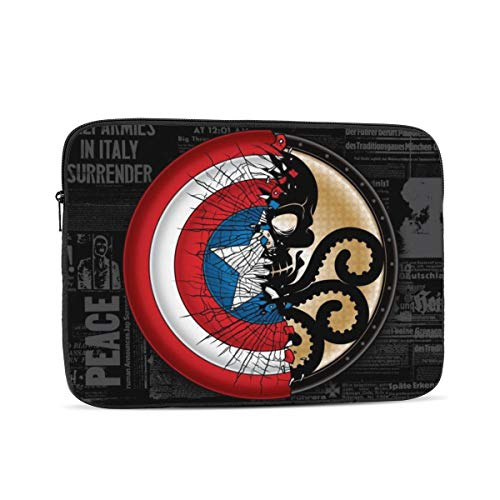 Cap-Tain America Laptop Tablet Sleeve Case Protective Bag for 10in/12in/13in/15in/17in Electronics - Waterproof Shockproof Dustproof and Scratchproof