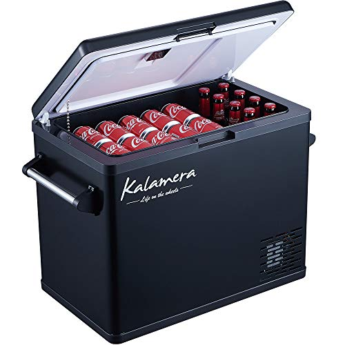 Kalamera Portable Refrigerator for Car, 52 Quarts Car Cooler for Camping   -4°F to 50°F Compressor Based Electric 12V Fridge for Vehicles and Trucks   AC and DC Travel Freezer for RV