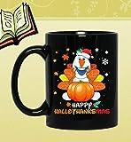N\A Tazza da caffè in Ceramica Regalo, Olaf Santa Happy Hallothanksmas Natale Divertente Tazza da caffè Tazza da Regalo Tazza da caffè Tazza da tè 11 Once