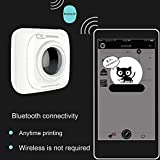 Mini imprimante thermique, P2S sans fil BT Portable Pocket Label Note Printer Compatible avec les appareils Android iOS Système Windows pour enfant peinture femmes hommes cadeau (White P1)