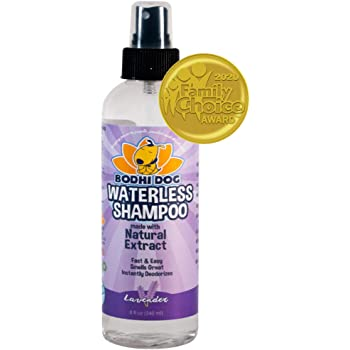 New Waterless Dog Shampoo | All Natural Dry Shampoo for Dogs or Cats No Rinse Required | 100% Non-Toxic with Natural Extract | Vet Approved Treatment - Made in USA - 1 Bottle 8oz (240ml)