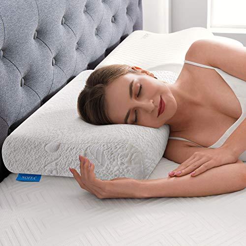 NOFFA Ergonomic Memory Foam Pillows, Orthopedic Contour Pillow, Deep Sleep...