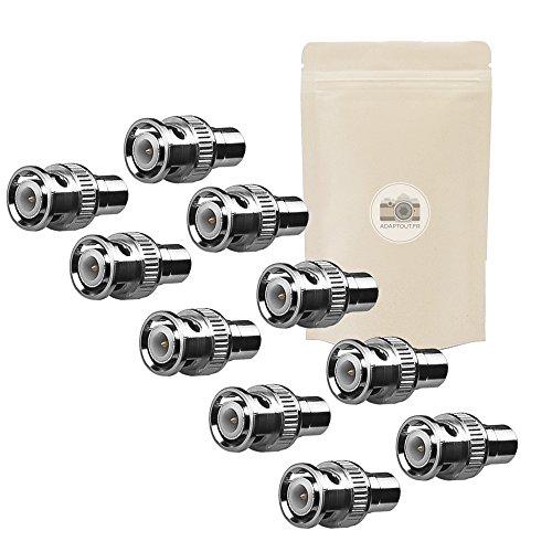 10 X Adaptateur BNC Male RCA Femelle Lot de 10 coaxial connecteur Video s-Video ADAPTOUT Marque Francaise
