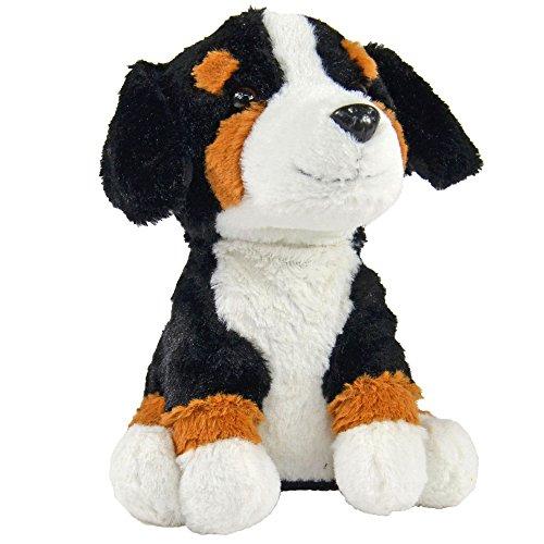 Kögler 75912 - Labertier Berner Sennenhund Bernd, ca. 18 cm groß, nachsprechendes Plüschtier mit Aufnahme- und Wiedergabefunktion, plappert alles witzig nach und bewegt sich, batteriebetrieben