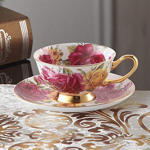 Chanety,taza de agua aislada,taza de agua Europa Noble Hueso China Café Café Separado Cuchara Set 200ml Taza de cerámica de lujo TOP-GRADE TEA CUP DE TEA CAFE CAFE Webware taza de agua plegable