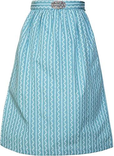 Damen Dirndlschrze mit Schnalle 68er Lnge und 65er Lnge NEU, Hellblau, M