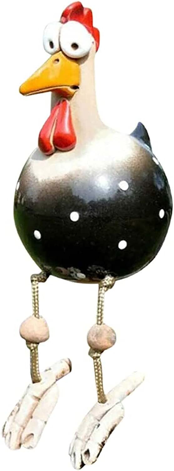Garden Sculptures & Statues Arts & Crafts Rooster Decor Outdoor Chicken Yard Decorations Statue Farm Rooster Kitchen Decor XinMai (Black)